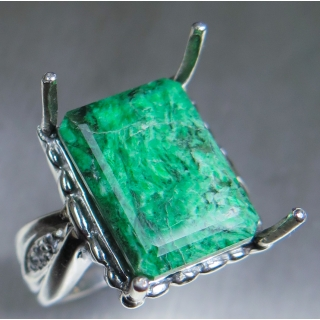 12ct Natural Green Maw sit-sit Silver/..