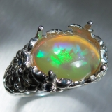 3.2ct Natural Welo Opal Silver/ 9ct 14..