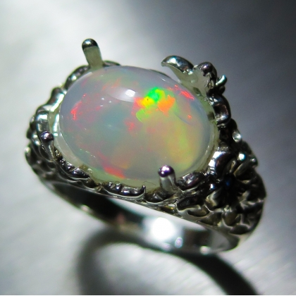 4.15ct Natural Welo Opal Silver/ 9ct 14k 18k Gold /Platinum ring