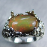 3.25ct Natural Welo Opal Silver/ 9ct 1..