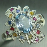 1.2cts Natural light aqua blue aquamar..