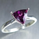 Natural Grape red  Rhodolite Garnet Silver/ Gold / Platinum ring