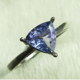 0.95ct Natural tanzanite Silver/ Gold ..