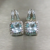 Natural light blue Topaz 925 Sterling ..
