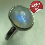 2ct Natural Rainbow Moonstone 925 Ster..