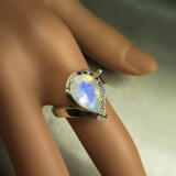 2.55cts Natural Rainbow Moonstone Silv..