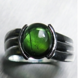 2.6ct Natural cats eye Green Blue Tour..