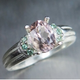 1ct Natural light Pink Morganite Beryl..