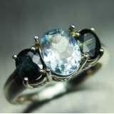 0.85cts Natural light aqua blue aquama..