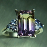 3ct Natural Bi-colour Ametrine &tanzan..