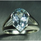 3.15cts Natural light aqua blue Aquama..
