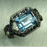 2.8ct Natural Swiss Blue Topaz Silver/..