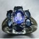 1.45ct Natural tanzanite & sapphir..