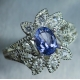 0.65ct Natural tanzanite & topaz S..