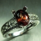 1.75ct Natural Red Zircon Silver/ ..