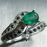 Natural Colombian Emerald &sapphires S..