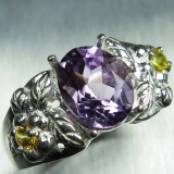 1.90ct Natural Amethyst Silver/ 9ct 14..