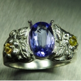 1.4ct Natural tanzanite & sapphires Si..