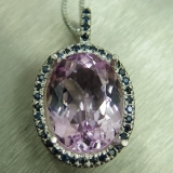 10.95ct Natural pink Kunzite Silver/ G..