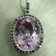 10.95ct Natural pink Kunzite Silve..