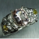 1.55ct Natural light Pink Morganite Beryl Silver/ Platinum/ Gold ring