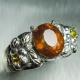 3.6ct Natural Cinnamon Orange Hessonit..