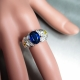 2.55ct Natural blue Kyanite 925 Silver / Gold/ Platinum ring