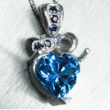 2.5cts Natural swiss blue topaz Silver..