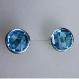 Natural Swiss Blue Topaz Silver / gold..