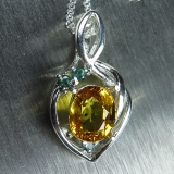 Natural yellow Sapphire Silver/ Gold/ ..