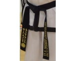 ITF Embroided High Quality Black Belts standard