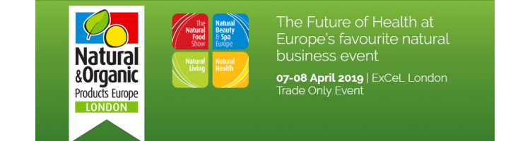 Natural & Organic Products Europe - 07-08 April 2019 - ExCel London