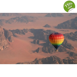 Hot Air Balloon in Wadi..