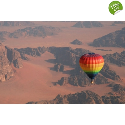 Hot Air Balloon in Wadi Rum title=
