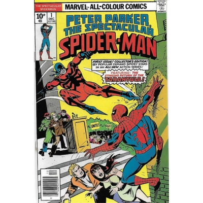 The Spectacular Spider-Man [1976] - 1 [British Price Variant] [FN/VF] [7.0]