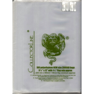 Collectorline - Pack of 100 NEW Size 2000AD Bags