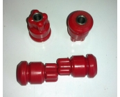 Rear spring shackle bushes 340 & 360