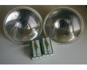 Halogen H4 Headlamps Pair with Bulbs 120, 1800 a..