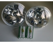 Crystal Halogen Headlamps Pair with Bulbs 120, 1..