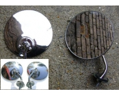 Stainless steel Mirrors Pair
