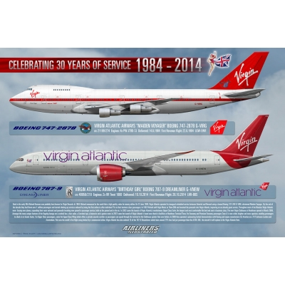Virgin Atlantic Airways 30 Years Of Service