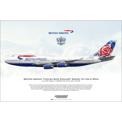 British Airways Chelsea Rose-England Boeing 747-436 G-BYGA