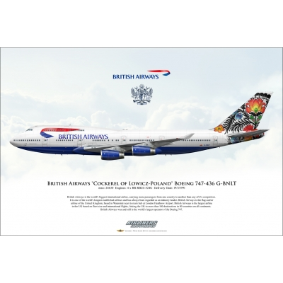 British Airways Cockerel of Lowicz Boeing 747-436 G-BNLT