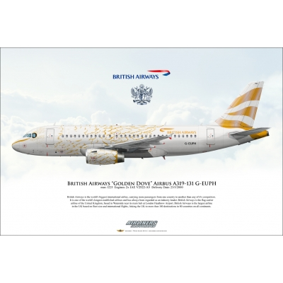 British Airways Golden Dove Airbus A319-131 G-EUPH