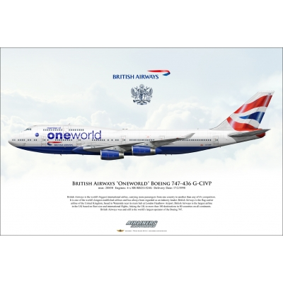 British Airways Oneworld Boeing 747-436 G-CIVP
