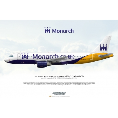Monarch Airlines Airbus A320-212 G-MPCD