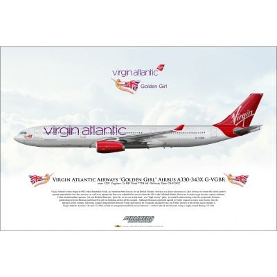 Virgin Atlantic Airways Golden Girl Airbus A330-343X G-VGBR