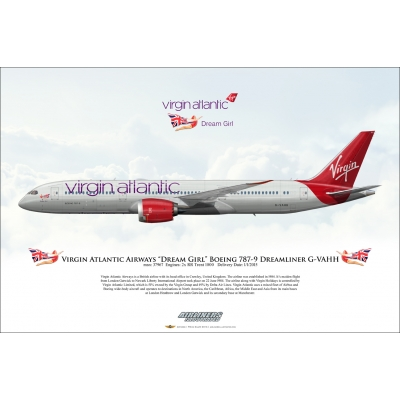 "Virgin Atlantic Airways ""Dream Girl"" Boeing 787-9 Dreamliner G-VAHH"