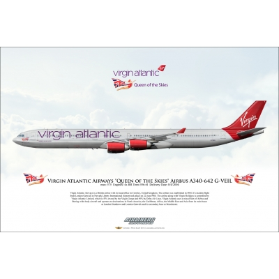 "Virgin Atlantic Airways ""Queen of the Skies"" Airbus A340-642 G-VEIL"