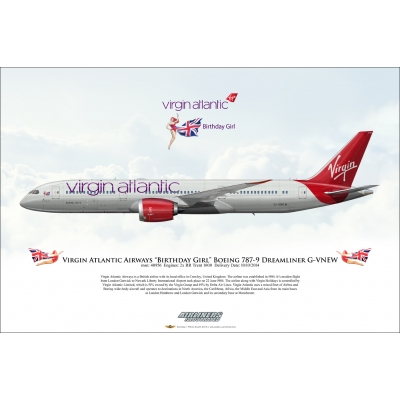 Virgin Atlantic Airways Birthday Girl Boeing 787-9 Dreamliner G-VNEW